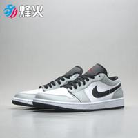 烽火体育 Air Jordan 1 LOW AJ1 乔1 低帮 烟灰白灰篮球鞋 553558 030 553558-030 CW仓现货 41