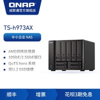 QNAP威聯通TS-h973AX-8G四核心 9-bay 混合式NAS,支持高速 U.2 NVMe SSD 與 10GbE/2.5GbE,效能兼具大容量