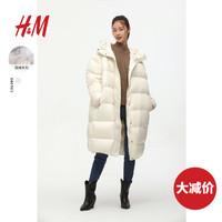 HM 0799290 女装及膝连帽羽绒服