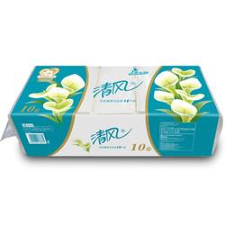清风(APP)无芯卷纸 马蹄莲系列 3层140克卫生纸巾*10卷 平纹长卷(新老包装交替发货) *3件 +凑单品