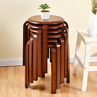 JIAYI 家逸 简约现代实木圆凳