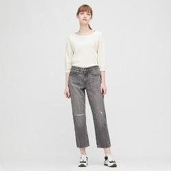 UNIQLO 优衣库 433112 女款九分牛仔裤