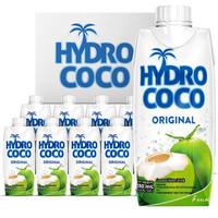 京东PLUS会员: HYDRO COCO/海多可可  天然椰汁 330ml*12瓶  *2件