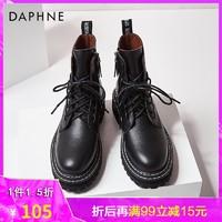 DAPHNE 达芙妮 女士真皮马丁靴