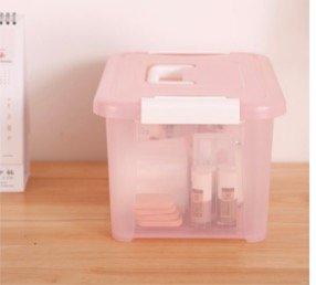 IRIS 爱丽思 HKB-8 带盖塑料收纳箱 33.5*22*16.7cm 粉色
