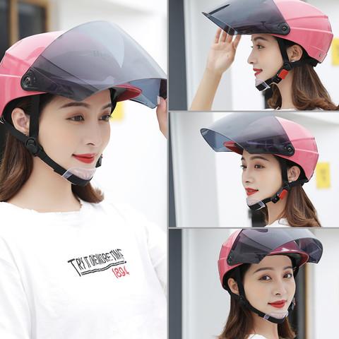 电动车头盔男女士夏季防晒半全盔四季通用单车电瓶车安全头盔帽