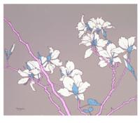 墨斗鱼艺术胡杨限量版画花卉风景《一枝》限量99版