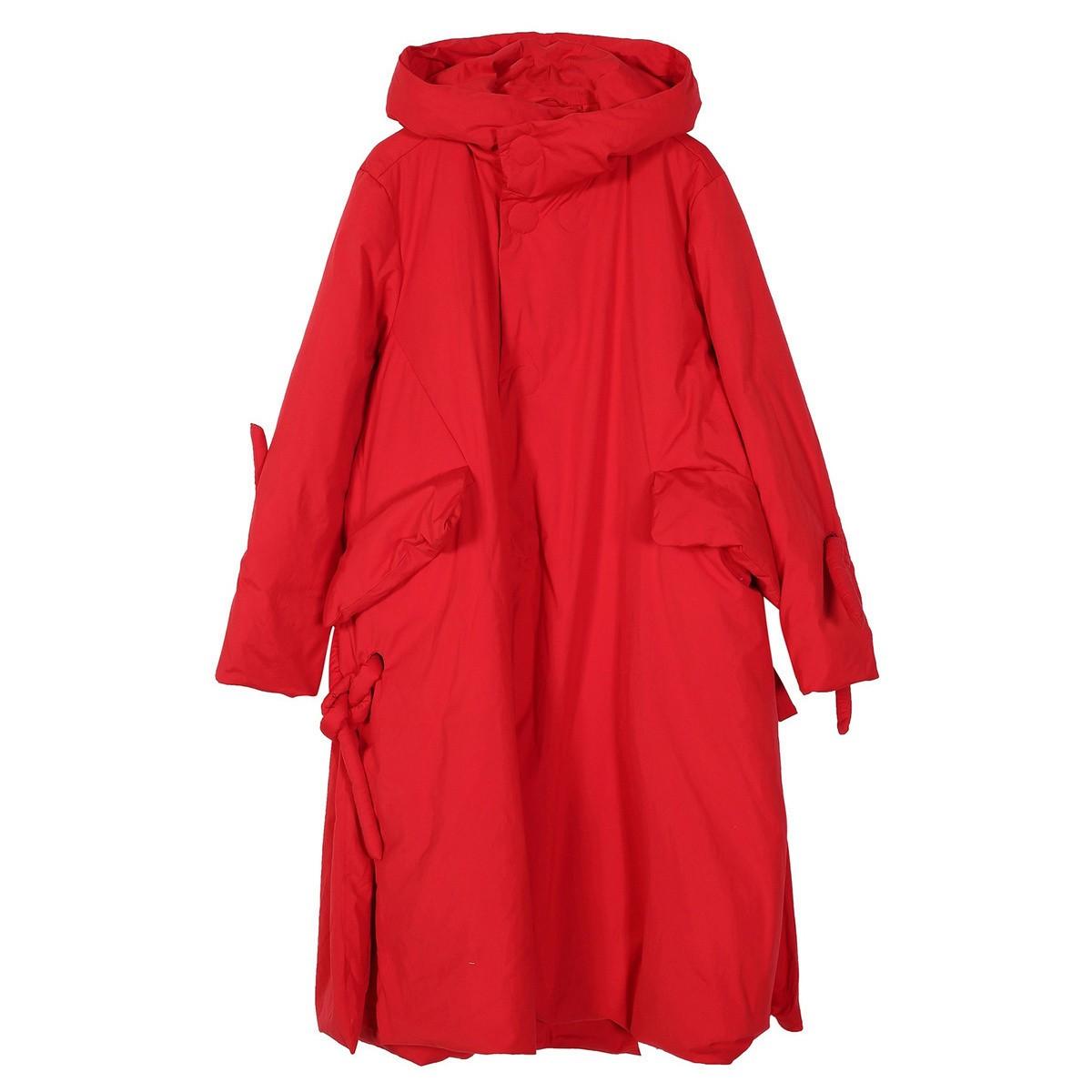 JNBY 江南布衣 女士中长款羽绒服 5IA700291622 正红 S