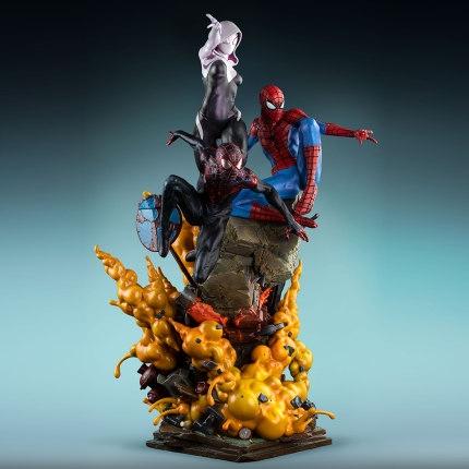 新品发售 : Queen Studios 漫威 漫画蜘蛛侠三人组 1/4 全身雕像