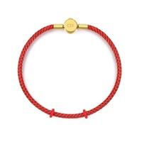 唯品尖货:CHOW TAI FOOK 周大福 AX89 钢扣手绳 16.25cm 红色