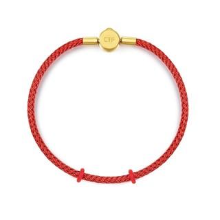 CHOW TAI FOOK 周大福 AX89 钢扣手绳 16.25cm