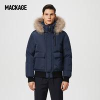 MACKAGE男士 NATHAN毛领连帽飞行员羽绒服夹克短外套专柜