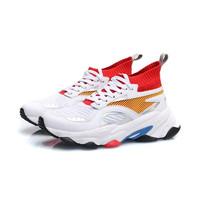 LI-NING 李宁 男子休闲运动鞋 AGCP167-1 标准白/李宁红/标准黑 44