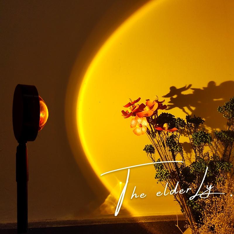 mandalaki 落日余晖灯网红装饰氛围灯夕阳投影灯日不落地灯落日灯