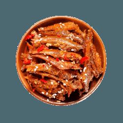 老巴王  香辣零食小鱼仔8包+鱼豆腐4包