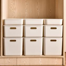 访客(FK) 收纳盒15L日式简约桌面带提手收纳箱 无盖中号4# *3件