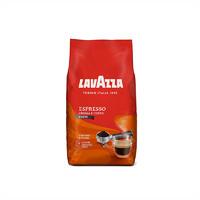 意大利Lavazza拉瓦萨进口意式浓缩金牌咖啡豆可现磨咖啡粉1kg原装