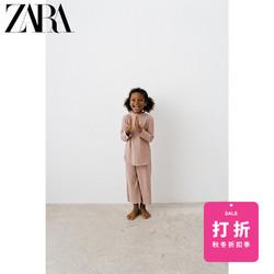 ZARA 女婴幼童 柔软触感罗纹阔腿裤 04012516637