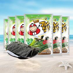 泰国进口 老板仔即食海苔片32g*6袋装 原味6袋