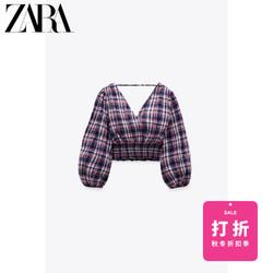 ZARA 女装 格子短上衣 07484154330