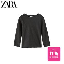 ZARA  新款 童装女童 秋冬新品 罗纹 T 恤 05048114807