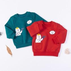 秋上新秋季新品2020男童婴幼卫衣宝宝肩开加绒上衣儿童长袖衣服