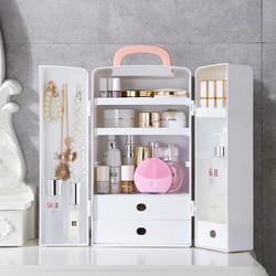 519化妆品收纳盒家用梳妆台护肤品整理箱