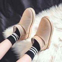 回力新款秋冬雪地靴女皮毛一体短筒靴子时尚百搭棉鞋女冬面包加绒