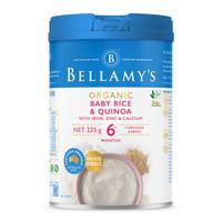 BELLAMY'S 贝拉米 婴儿有机藜麦米大米粉 225g +凑单品