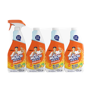 Mr Muscle 威猛先生 厨房重油污净 柑橘味 455g*4瓶 *5件