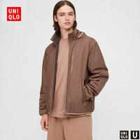 UNIQLO 优衣库 U系列 434888 男士两面穿摇粒绒夹克