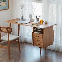 MULINHOME 木邻 古灵阁樱桃木书桌 单桌 1m 原木色