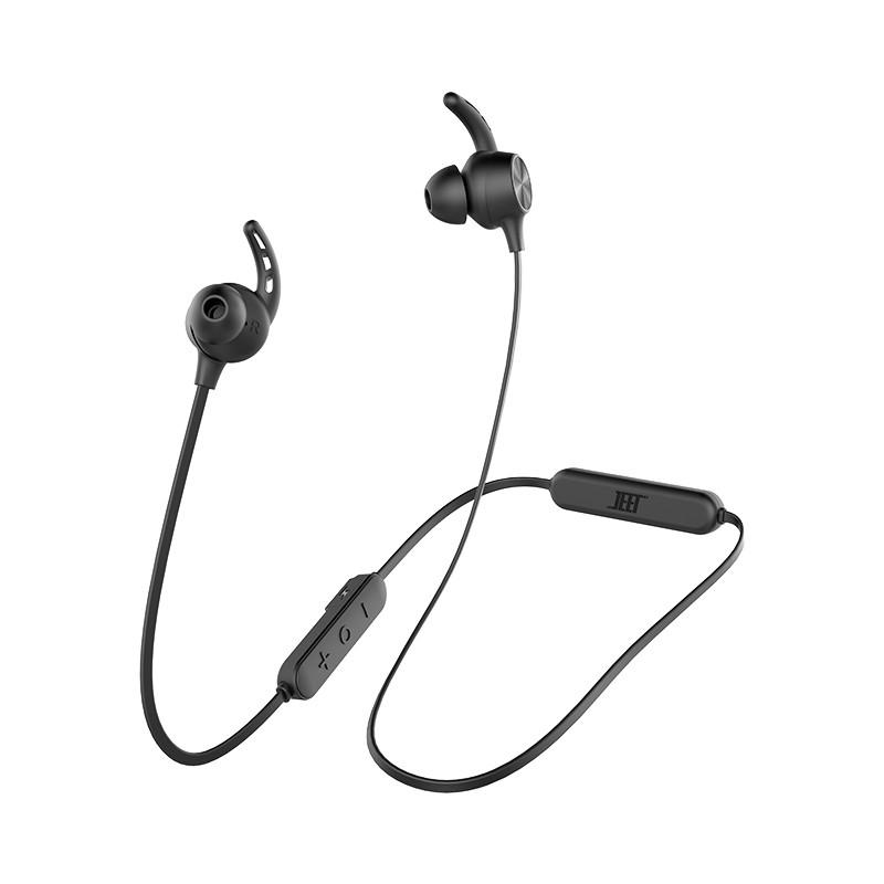 JEET 泰捷耳机 W1S 入耳式颈挂式蓝牙耳机 黑色