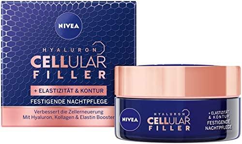 NIVEA 妮维雅 肌肤玻尿酸紧致弹性抗皱晚霜 紧致皮肤/增强弹性的面霜,1罐装(1 x 50ml)