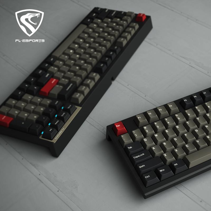 腹灵FL980 机械键盘无线2.4G蓝牙三模PBT键帽98键热插拔凯华box轴