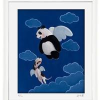 阿斯蒙迪 许京甫 熊猫限量版画艺术品