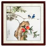 尚得堂 现代中式 手绘国画 花鸟画 背景墙挂画装饰画