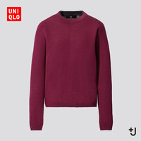 UNIQLO 优衣库 +J 432653 女士羊绒圆领针织衫