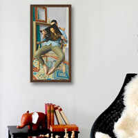 Artron 雅昌 王健 签名版画《入迷系列--看丢勒》25×50cm 典雅栗