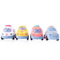澳乐 卡通惯性小车宝宝玩具车小车车交通款惯性汽车4件套 +凑单品