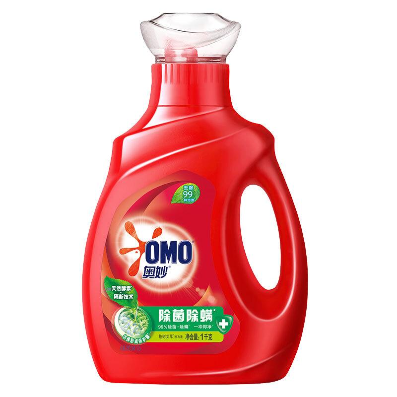 OMO 奥妙 除菌除螨系列 洗衣液 1kg 桉树艾草香