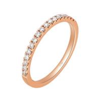 CHOW TAI FOOK 周大福 小心意系列 U131379 女士18K玫瑰金钻石戒指