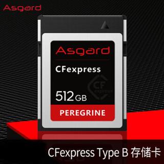 阿斯加特(Asgard) 512GB高速CF Express存储卡 游隼系列-高级单反相机内存卡 支持4K内录RAW连拍