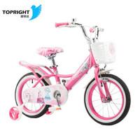 途锐达(TOPRIGHT)儿童自行车 魔法公主 粉色 18寸