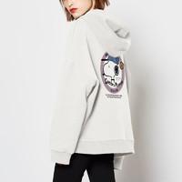 史努比连帽卫衣女加绒2020年秋冬新款韩版宽松ins潮上衣外套