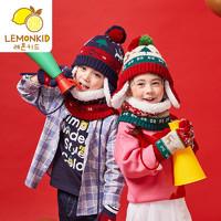 Lemonkid 柠檬宝宝 儿童帽子围巾加绒两件套
