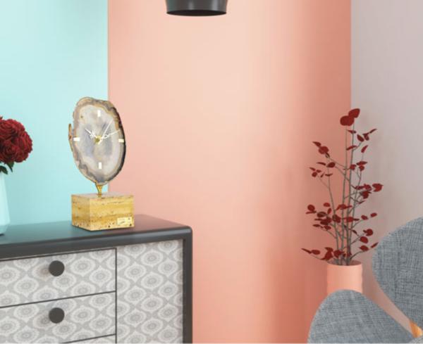 阿斯蒙迪 进口天然 水晶玛瑙 创意座钟