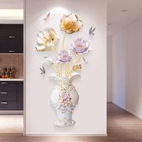 墙彩 3d立体墙贴画 花瓶郁金香款