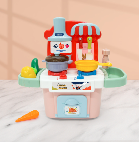 贝恩施 儿童玩具厨房过家家套装 做饭仿真厨具