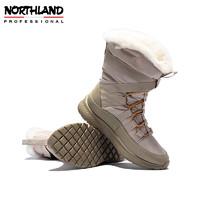诺诗兰中帮休闲鞋女2020冬季新款户外防潮抗寒保暖增高NMSAT2702